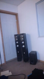 Theatre Research Stand Up Speaker and JVC Subwoofer