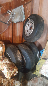 Ford f350 steel factory rims and tires