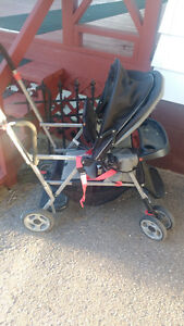 Double stroller and sit and stand stroller