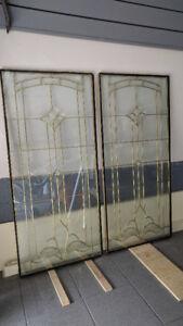 """Front-door glass inserts - 22"""" x 48"""""""