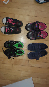 Childrens shoes 2 size 8 and 2 size 9.