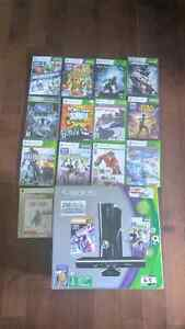 Xbox 360 w Kinect / play and charge/2controllers/13 Games