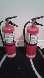 2  10 pound fire extinguishers 70$ each 120 for the pair