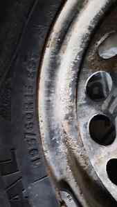Winter tires. 4 bolt. 195 60 15. 4x100 bolt pattern.   Cambridge Kitchener Area image 1