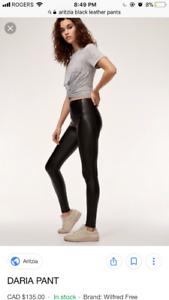 Aritzia Daria Vegan Leather Pants