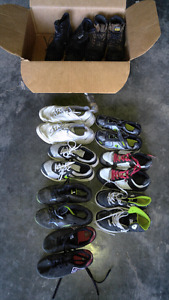 Lot of boys shoes