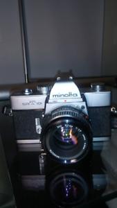 Minolta SRT 101 35mm SLR Film Camera Lens MD 50mm f/1.7 $120