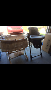 Bassinet and Highchair