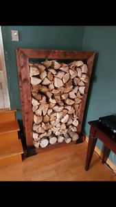 Custom Stained Indoor Wood Rack