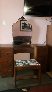 Antique Vanity with bench PRICE LOWERED