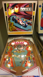 Spin out pinball machine.