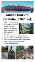 Guided tour to Katahdin summit (Baxter Park, Maine) May-October