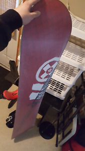 Snowboard and boots size 9
