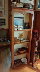 Tall Custom-made solid pine wood bookcase or display shelf
