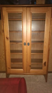 Solid wood cabinet for keepsakes