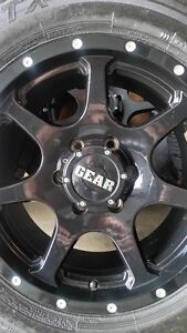 4 NEW GEAR RIMS WITH WILD COUNTRY XTX TIRES LT265/70/17