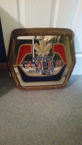 Retro Molson Canadian mirror