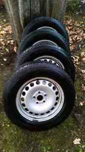 4 winter tires with rims from  vw  tiguan