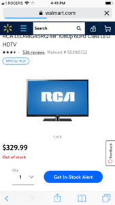 "48"" RCA HDTV minimum hours - $200 or best offer"