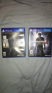 PS4 THE LAST OF US: REMASTERED AND UNCHARTED 4: A THIEF'S END