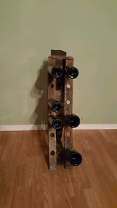 Repurposed Wine Barrel Wine Rack