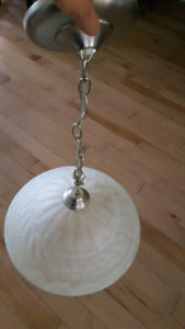 16 inch frosted chandelier
