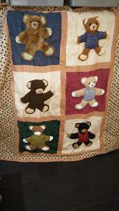 3D Bear Quilt and 2 pillows