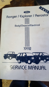 1992 Ford service manuals