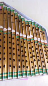 Set of Indian bamboo flute for sale