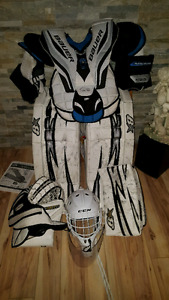 Goalie gear.  Used one season.  Brian pads.  34 + 1.