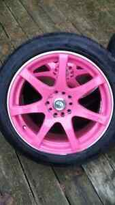 "17"" Rims With Tires - 5x114.3 - 5x100 London Ontario image 2"