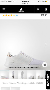 Adidas cloud foam white shoes brand new never worn.