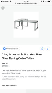 Glass nesting coffee tables