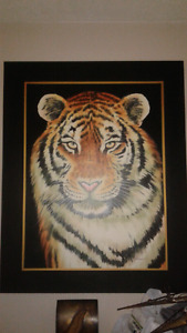 Large hand painted canvas picture