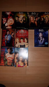 dvd buffy, charmed et smallville 80$ le lots