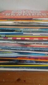 Collection of House Vinyl Records For Dj
