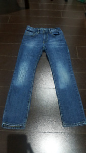 GENTLY USED size 8 BOY'S JEANS FROM THE GAP AND LEVI'S.