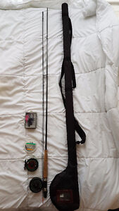 Fly Fishing Rod, Reels, Case, and Flies