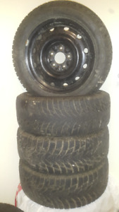 4 winter tires with rims for sale (used at last winter)