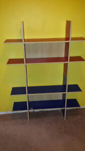 Red and Blue IKEA Shelves
