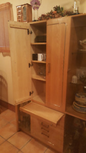 DINNING SET BUFFET, TABLE AND 6 CHAIRS