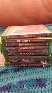 Xbox one games..2 remotes 350