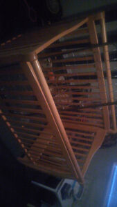 Solid wood crib excellent condition