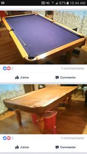 Table pool transformateur en ping pong et hockey