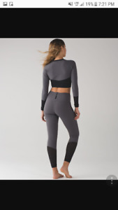 Lululemon paddle times grey top and tights