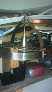 Stainless Steel Pot Rack with 2 Lights