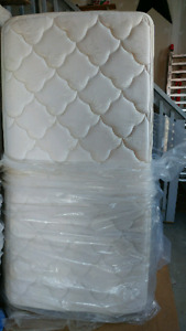 Twin pillow top mattress and box spring
