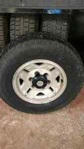 Toyota rims with 235/75/15 winters $400