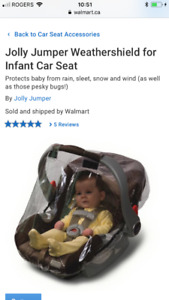 Weather shield for infant car seat (2).