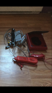 Red mini wii system